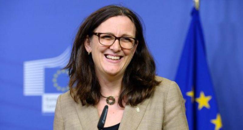 La comisaria de Comercio de la UE, Cecilia Malmström. / THIERRY CHARLIER (AFP)