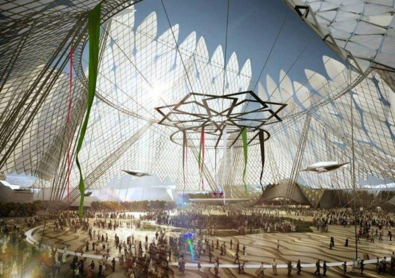 El edificio de la Expo 2020, Dubai