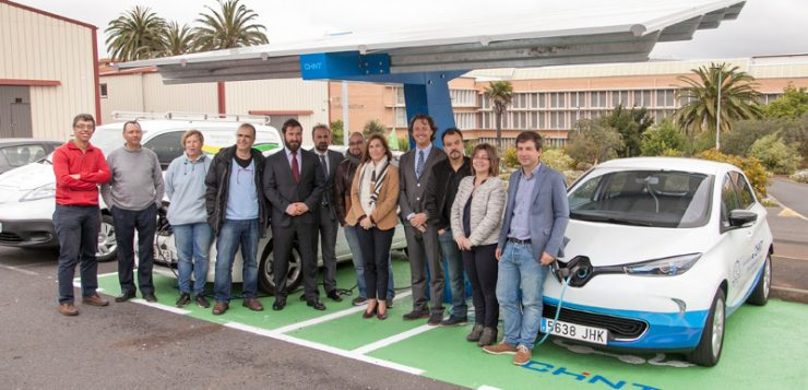 La ULL contará con la primera marquesina solar fotovoltaica con recarga para vehículos eléctricos