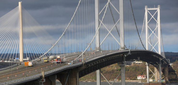 Monitoreo del puente de Forth Road